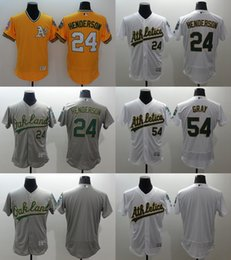 Wholesale Drop Shipping Men s Elite Oakland Athletics Sonny Gray Rickey Henderson Stitched Baseball Jerseys White Yellow