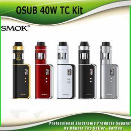 Original SMOK OSUB 40W TC Kit with OSUB 40W Box Mod 1350mAh Battery 2ML Helmet Mini tank 100% genuine SmokTech DHL Free 2218036