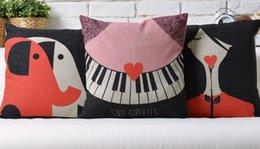 SARA BAREILLES Red double piano like roses line design POP ART pillow decorative pillows euro case arts popular painting gift