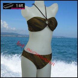 Wholesale New Womens Brown Lingerie bikini swimwear Swimsuits size M L beachwear Clearance bargain