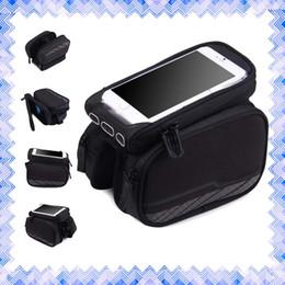 Acheter en ligne Nouveaux écrans de téléphone-Bike Tube avant Phone Bag Double Pocket écran tactile 5,2 pouces Équitation Cyclisme Fournitures Neuf