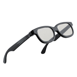 High-quality Black Circle Round Polarized 3D Glasses DVD LCD Video Game Theatre TV Theatre Movie Circular Wholesale A5