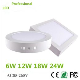 Wholesale No Cut ceiling W W W W Surface Mounted V Led Downlight Round Panel Light SMD Ultra Thin Ceiling DownLamp Kitchen