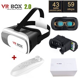 Wholesale HOT Google cardboard VR BOX II Version VR Virtual Reality D Glasses For inch Smartphone Bluetooth Controller