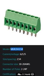 pins connector MU0.5H2.54 electric pcb mount screw electronics terminal blocks