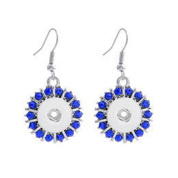 Mix color Antique silver 12mm crystal snap earring for women and girls