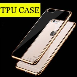Wholesale For Iphone6 plus Case note5 Colorful TPU Backcover Ultra Thin Case Galaxy S7 TPU Case Electroplating Technology Soft case DHL Free SCA082