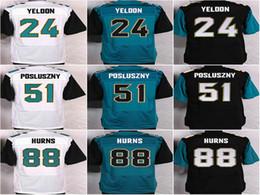 Wholesale Mens Elite Football Jerseys Jaguars Yeldon Posluszny Hurns Jackson Outdoor Mens Apparel Sports Shirts M XXXL