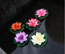 Wholesale Artificial Lotus Flower Garden Aquarium Floating Flower Colorful Silk Flowers Christmas Supplies Wedding Party Decorations Home Flower DHL