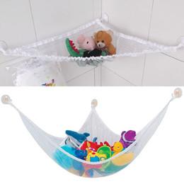 Promotion stockage pour les jouets Bébé Toy Mesh Storage Organiser Chambre Doll Organizer Aspiration Bathroom Stuff Net
