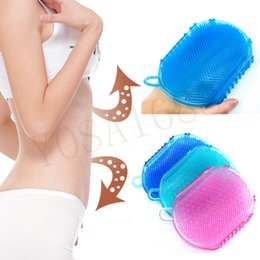 Wholesale 1Pcs SPA Anti Cellulite Slimming Massager Tools Scrub Glove For Bath Shower Exfoliating Mitt Exfoliating Bath Shower Body Brush