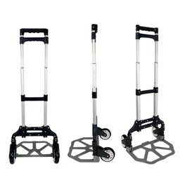 Wholesale 170LB ALUMINUM travel FOLDING LUGGAGE CART hand dolly trolley WHEELS