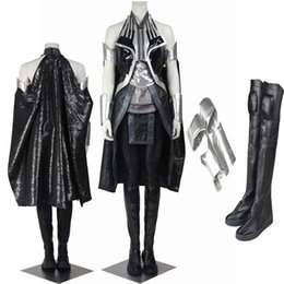 Free Shipping Customized Movie COS X-Men Apocalypse Storm Ororo Munroe Cosplay Costume Halloween Outfit Handmade For Adult