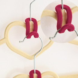Wholesale 1pcs Home Creative Mini Flocking Clothes Hanger Hook Closet Organizer Clothes Hanger Wardrobe
