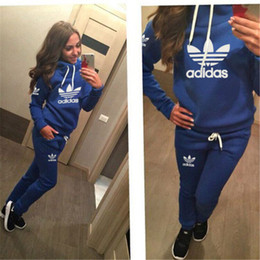 Wholesale 2016 New Arrival Women active set tracksuits Hoodies Sweatshirt Pants Running Sports set long sleeves and pants