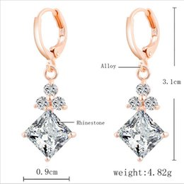 Wholesale 2016 New US GIA certificate ct earrings for women Emulational Diamond earring wedding earring Lovers Gift Gemstone earrings