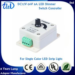 Wholesale DC12V V A Single Color LED Dimmer Switch Controller For SMD Single Color LED Strip Light