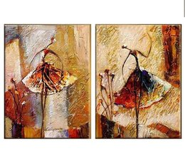 Wholesale Licy Jenny Art Oil painting home office decorate handmade handpainting abstract canvas girl dance panels a set framed on back free ship