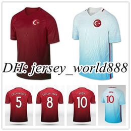 Wholesale Top Thai quality Turkish Home Soccer Jersey Turkey CENK TOSUN ARDA Away red Football men shirts