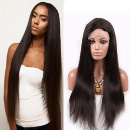 Wholesale Brazilian Silky Straight African American Full Lace Wigs Human Hair Wigs Best Glueless Brazilian Kinky Straight Lace Front Wigs