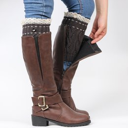 woman Boot Cuffs Stocking Socks Fashion Lace Leg Warmers Warm Up Wool Knitted Booty Winter Gaiters Boot Covers