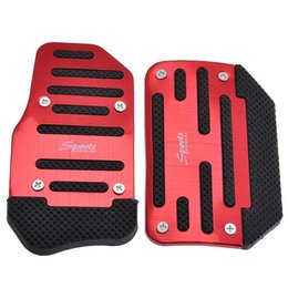 Wholesale universal Aluminum Automatic Transmission Car Pedal Cover kit Non slip Foot Pedal Accelerator Pedal Brake Cover Set kit
