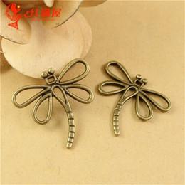 A2434 30*28MM Antique Bronze Retro Dragonfly charm bead accessories Korea New, copper animal shaped jewelry, zinc alloy animal pendant