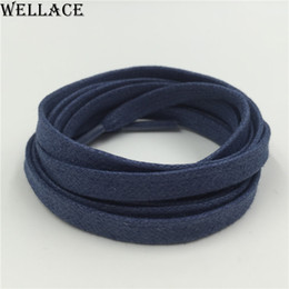 Wellace waterproof shoelaces waxed lacing cord 150cm 59'' Casual Shoes laces 8mm width Oxford Dress Canvas Sneaker flat Shoe Laces Unisex