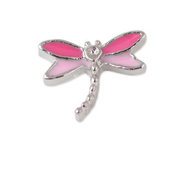 Wholesale 20pcs Alloy Enamel Animal Dragonfly Floating Charms For Glass Locket
