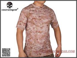 Al por mayor-Emers camiseta piel apretada Capa base Camo Operando camisas Aor1 A2 EN MR t- camisa desde capas base proveedores