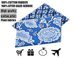 Wholesale fabric vb cotton cloth the sky blue and white flowers leng yan series Clothing handbags and other special materials