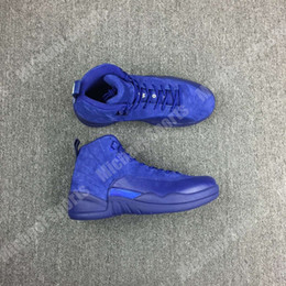 Wholesale retro Blue Suede basketball shoes original material and carbon fiber in the sole built in air cushion Original Factory Quality Version