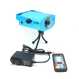 Wholesale 5 W RGB LED Stage Light Controller With Water Wave Ripple Effect Stage Lighting Lamp Music Auto Party DJ Laser Projector AC110 V