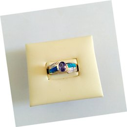 Wholesale Wedding rings opal Crystal jewelry S925 real sliver zircon inlay Opal ring beautifully chic High end atmosphere on the grade