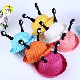 New Children's Straw Hat Animal Cartoon Hat Summer Beach Sun Protection Hats Outdoor Travel Boys Girls Wide Brim Hats Kids Dome Cap KIDS-4