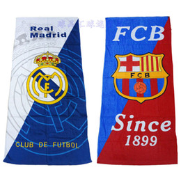 Wholesale Football Cotton Bath Beach Towel brand cm serviette de bain toallas playa grandes Best gift for football fans