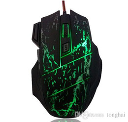 Wholesale 3200 DPI Buttons LED Optical USB Wired Gaming Mouse Mice For Pro Gamer MOUSE H210517