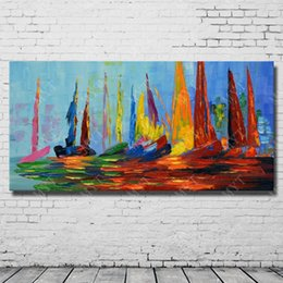 Wholesale Modern Abstract Acrylic Oil Painting Hand Painted Modern Picture Set On Canvas High Quality No Framed