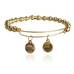 Wholesale Alex and Ani Bangle Bar Nile Bangle Bracelet Vintage Beaded Adjustable Jewelry Animation Movie Charm Bracelets For Women