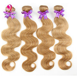 Dark Blond Hair 7A MALAYSIAN Body Wave Remy Hair Products #27 3pcs Double Weft Human Hair Dyeable Hair Body Wave