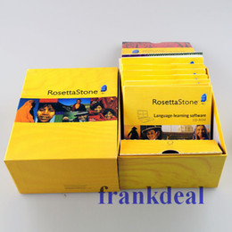 Wholesale 26 DVDs rosettastone stone Language Library software been activated Language Learning DVD PK Exercise Fitness Videos workout DVDs