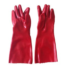 Wholesale 40cm Lengthening Oil Resistant Glove Waterproof Protective Glove PVC Industrial Safety Glove Chemical PVC Working Security Glove