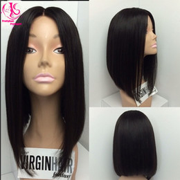 Wholesale Hot popular Middle part short Bob wigs black wigs synthetic lace front wigs with baby hair heat resistant fiber cheap wigs for woman