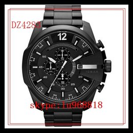 Wholesale TOP QUALITY BEST PRICE New Leather DZ4282 DZ4283 DZ4308 DZ4309 DZ4328 DZ4329 DZ4338 Sport Chronograph Watchs Men s Quartz Wristwatches