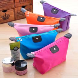Compra Online Monederos de las señoras regalos-Bolso cosmético del embrague de la bolsa del bolso de los bolsos del maquillaje de la señora Travel de las mujeres lindas del caramelo Bolso ocasional del bolso del embrague de la bolsa de DHL