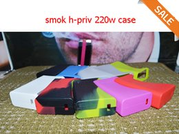 Wholesale Smok H Priv w Silicon case for H priv TC Box Mod starter Kit Trigger Style Firing Button Silicone Case Protective cover