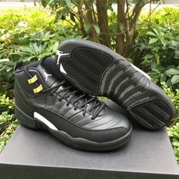 Wholesale Air Jordan Retro The Master Black Gold Size Jordans s Retro XII Master Top Newest Quality