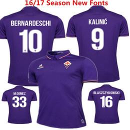 Wholesale 2016 Florence Home Purple Soccer Jersey ACF Fiorentina Football Clothes M gomez Bernardeschi Blaszczykowski Kalinic vestiti di calcio