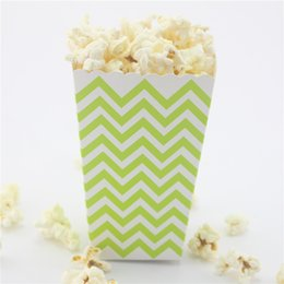 120pcs(10packs MIX) Free Shipping Chevron Popcorn Box Event & Party Supplies eco craft paper Candy Box