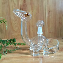 Wholesale USA new dino glass smoking pipes oil rigs with polished mm female joint new design for sale